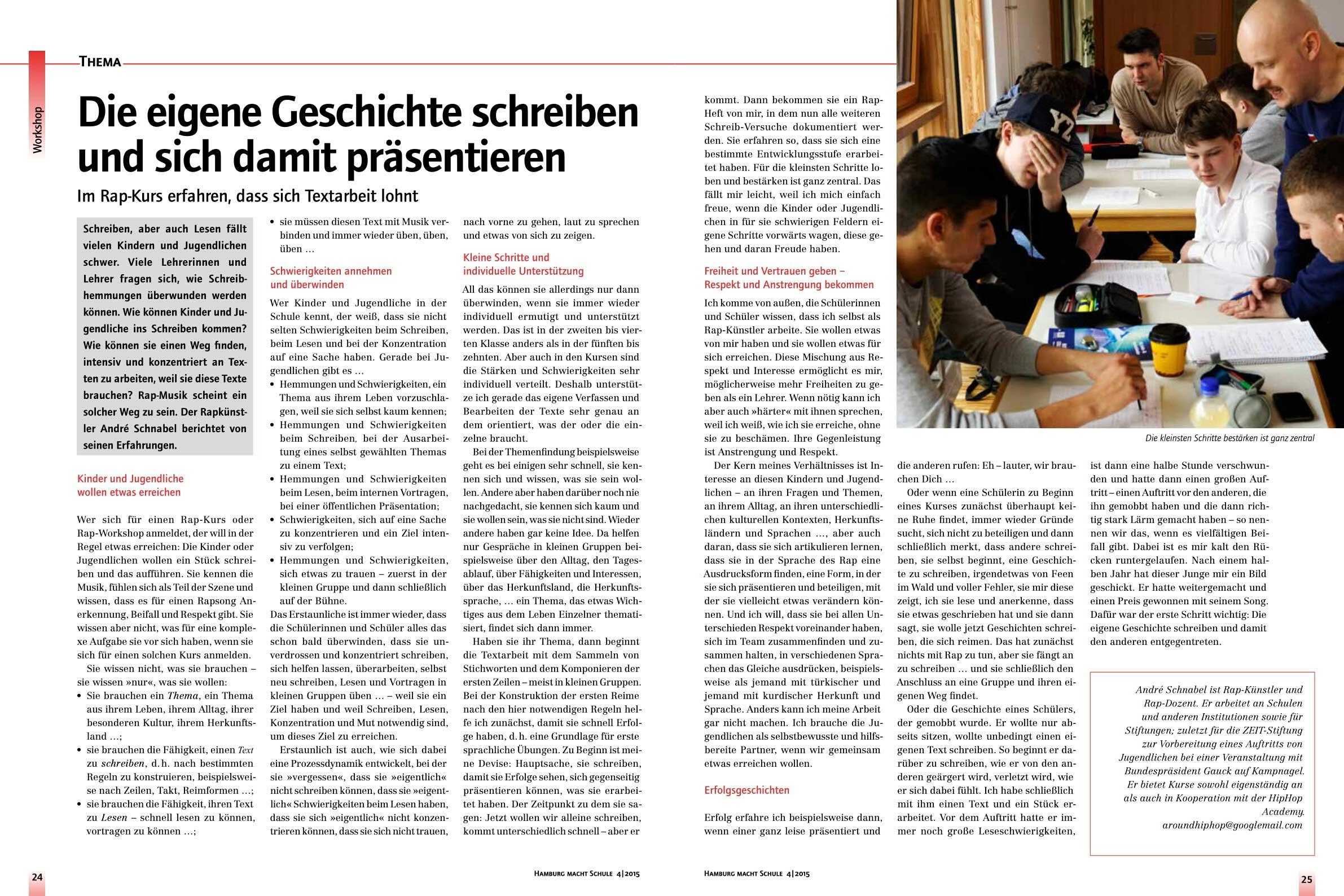 Rap AG Interview mit der Hamburg macht Schule